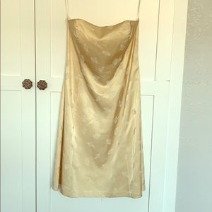 NWT White House Black Market Champagne Dress 8